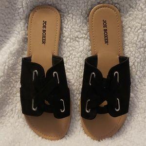 "Joe Boxer ""Heloise"" Black Sandal - Size 10"